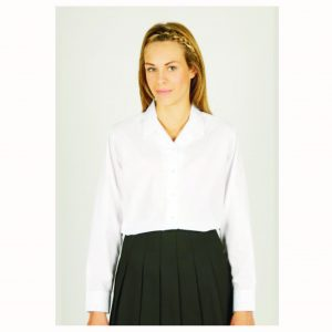 None Iron L/Sleeve Rever Collar Blouse – Twin Pack