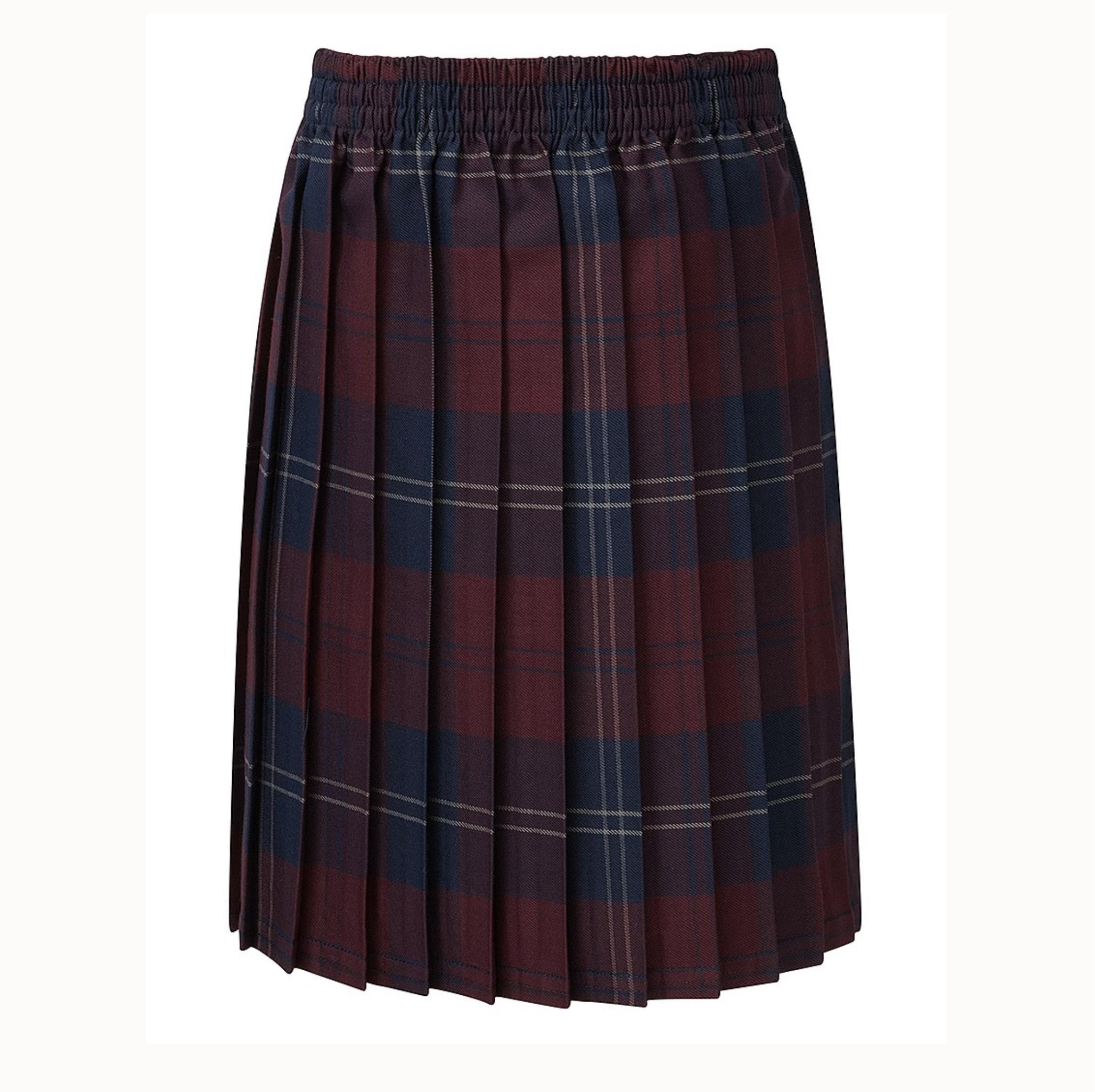 Skye Tartan Junior Maroon Skirt - Crested School Wear e9c565cb60844