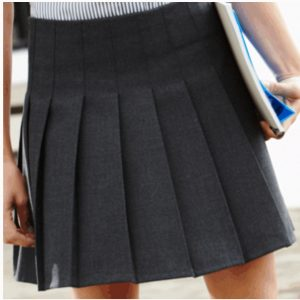 Trutex Girls Stitch Down Pleat Skirt Grey