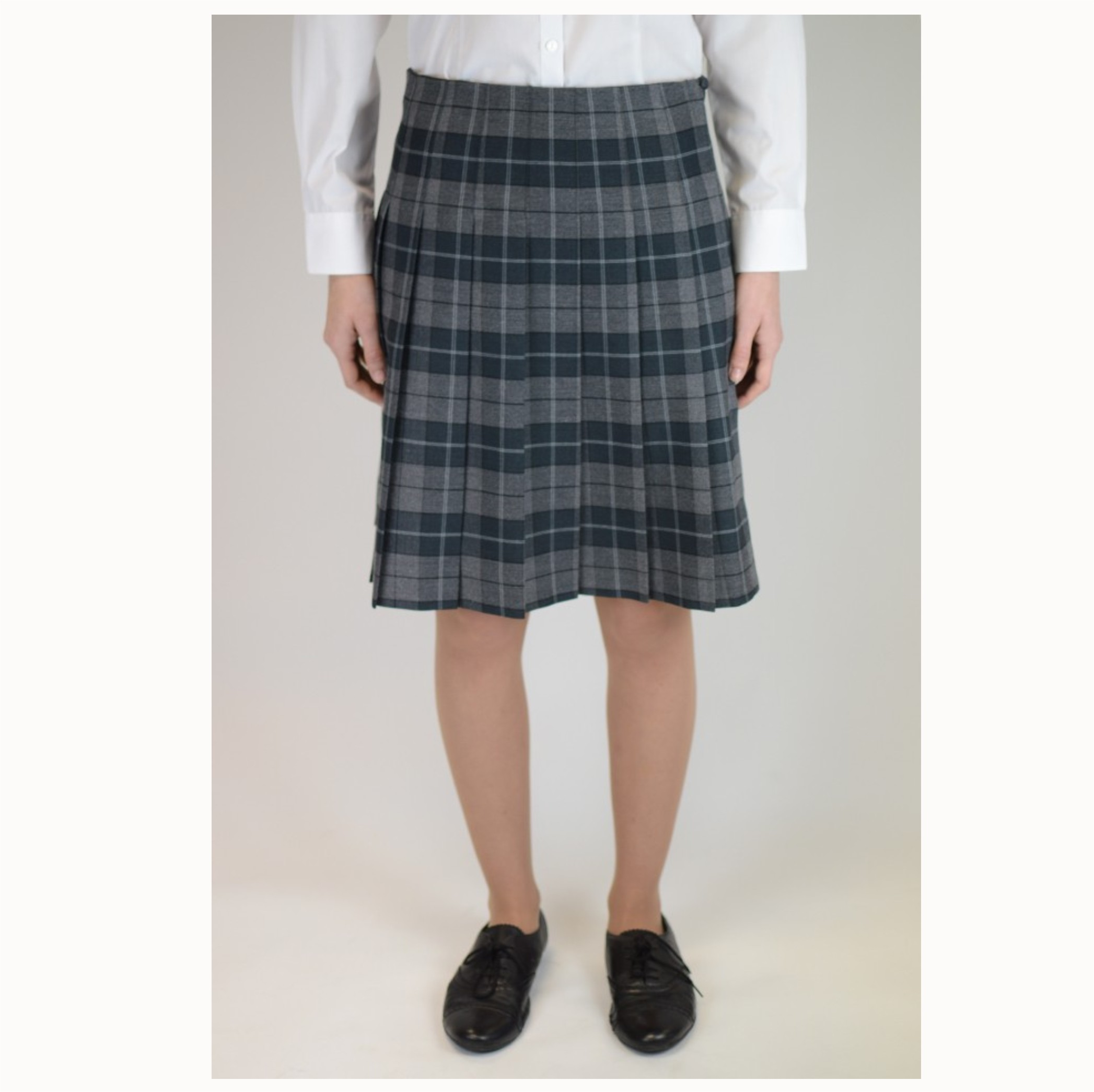 ba6154912 Stitch Down Pleat Tartan Skirt - Crested School Wear