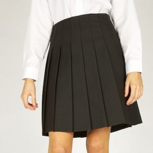 Trutex Girls Stitch Down Pleat Skirt Black