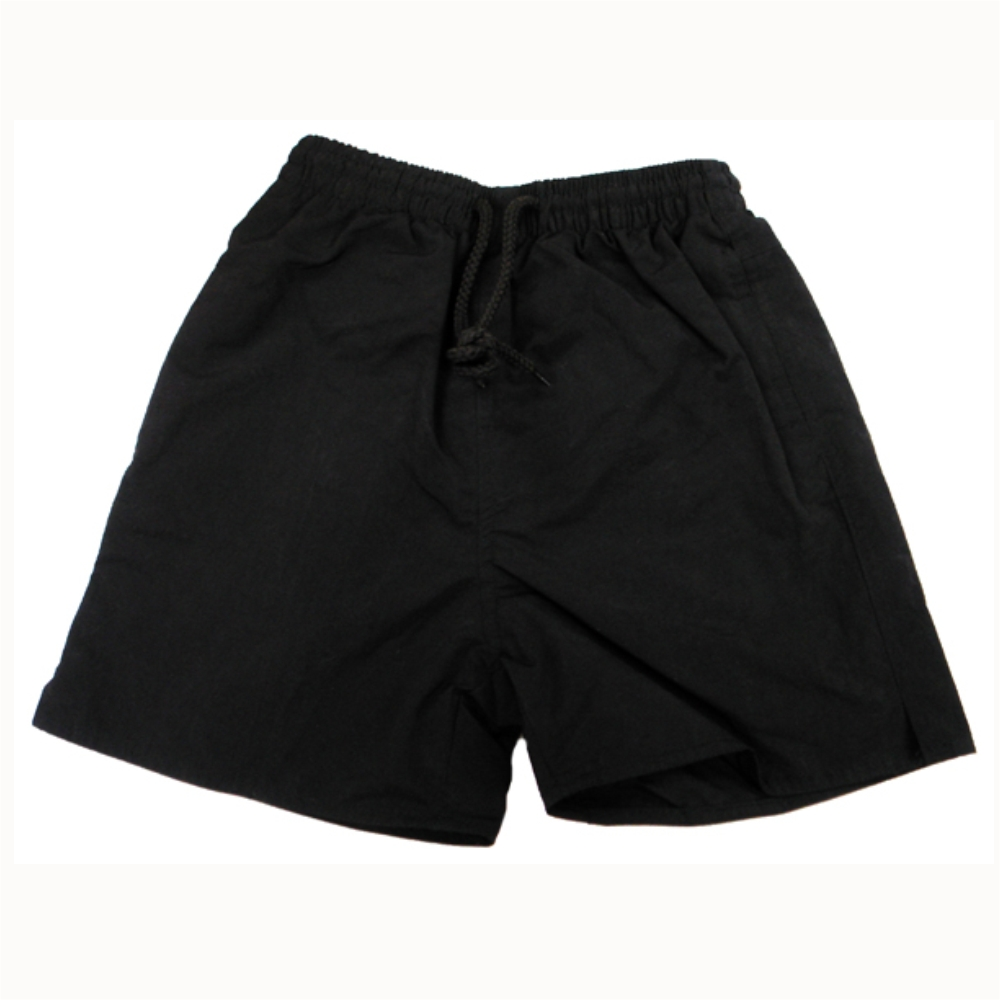 Plain Black Short - Crested School Wear