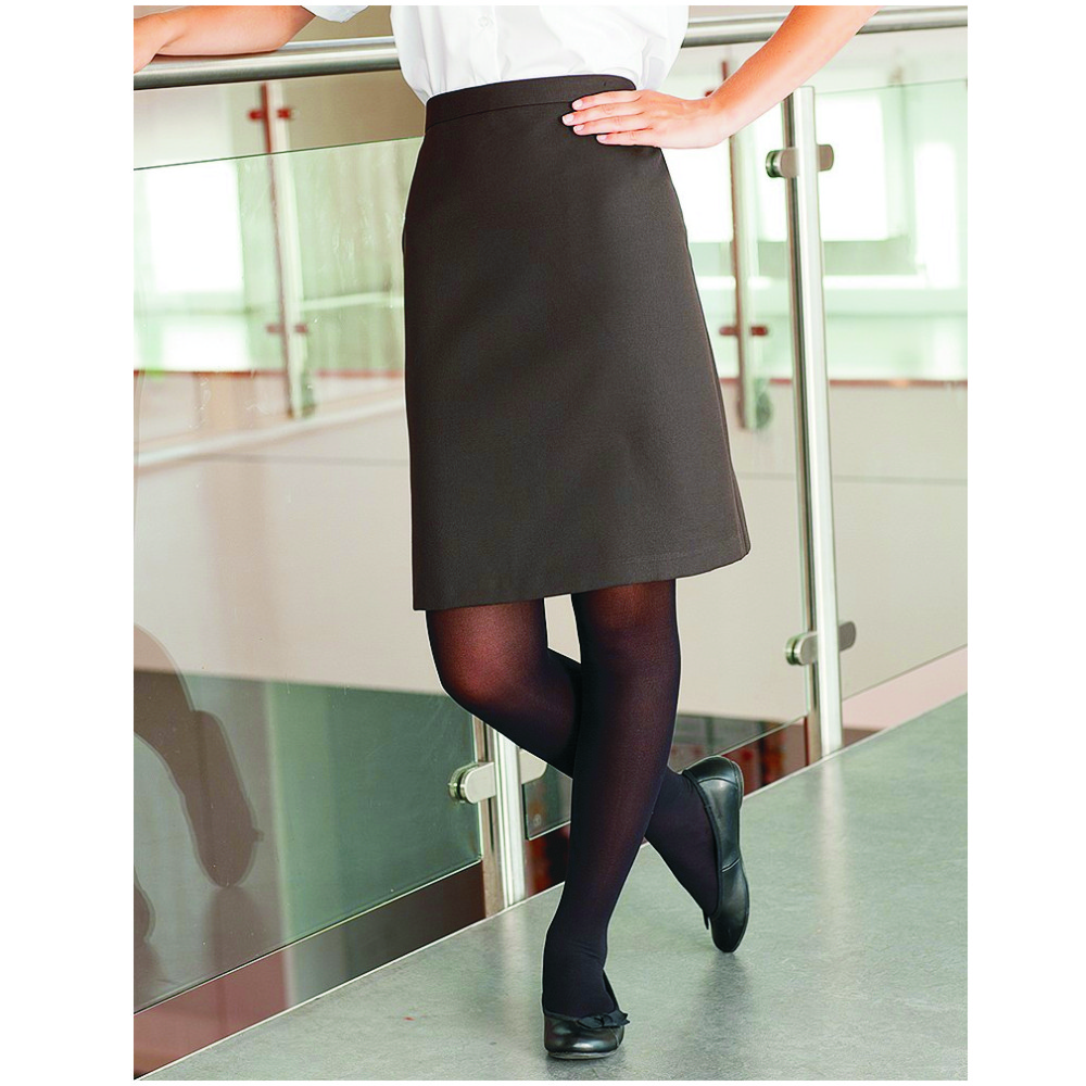 cdfe10b290ce5e Straight Senior Brown Skirt - Crested School Wear