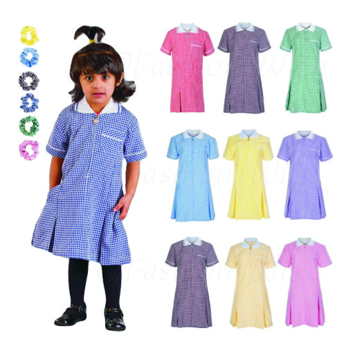 22d405cdd76 Girl s School Gingham Summer Dress - Crested School Wear