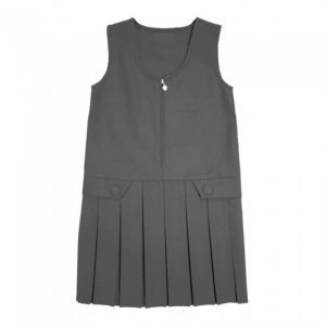 Box Pleat Pinafore Grey