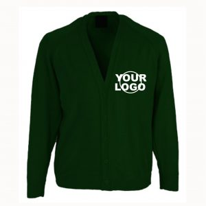 St Chads Primary Bottle Green Cardigan