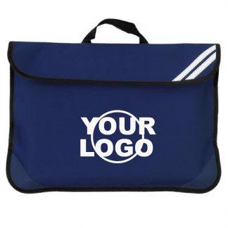 navy book bag