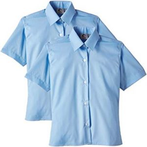 Trutex S/Sleeve Blouse Twin Pack Sky