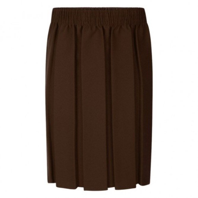 30f68f27b20eca Box Pleat Skirt Brown - Crested School Wear