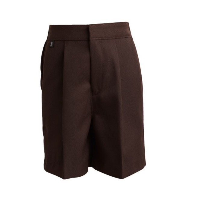 ae35035ed42366 Boys Brown School Shorts - Crested School Wear