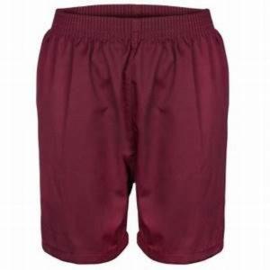 Maroon Cotton Shorts